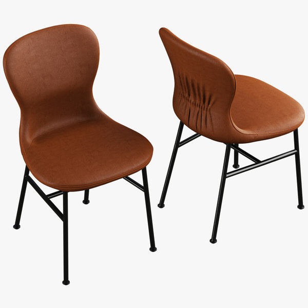 fogia myko chair realistic 3D model