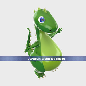 dinosaur cartoon toy 3D model