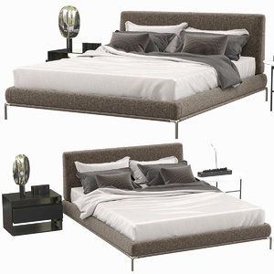 3D flou icon bed furniture