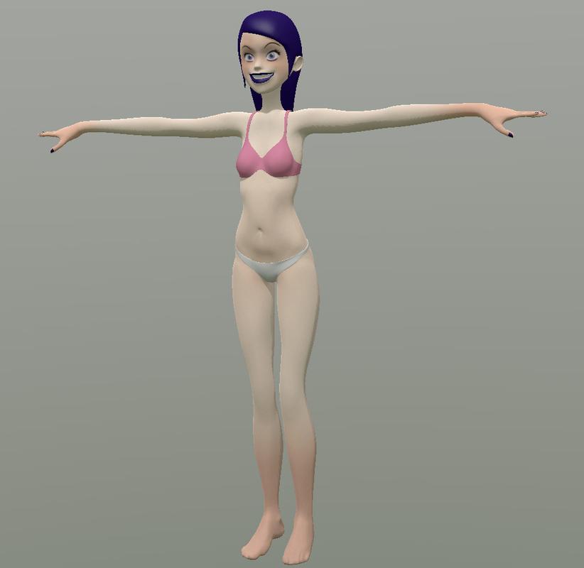 girl cartoon 3D