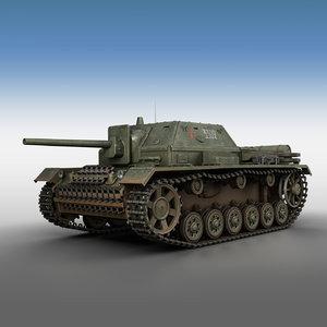 su-76i soviet gun - 3D model