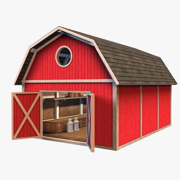 3D barn interior