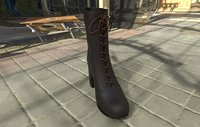 leather boot 3D