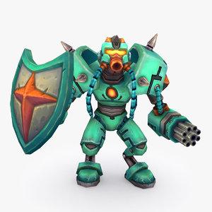 3D rigged robot type g