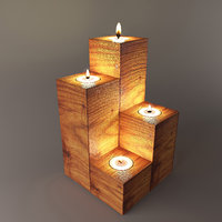 3D model wooden stand