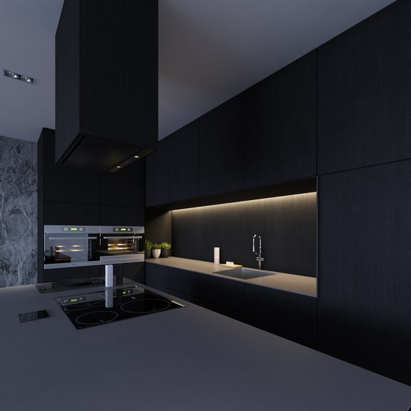 3D kitchen interior