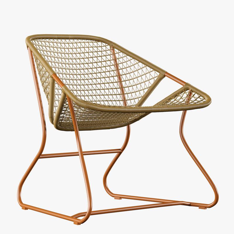 outdoor rattan chair model