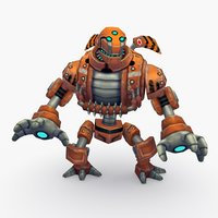 rigged robot type 3D model