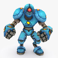 3D rigged robot type h model