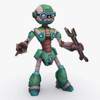 3D rigged robot type k
