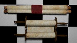 old scrolls 3D model
