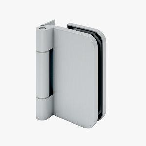 3D hidge glass door