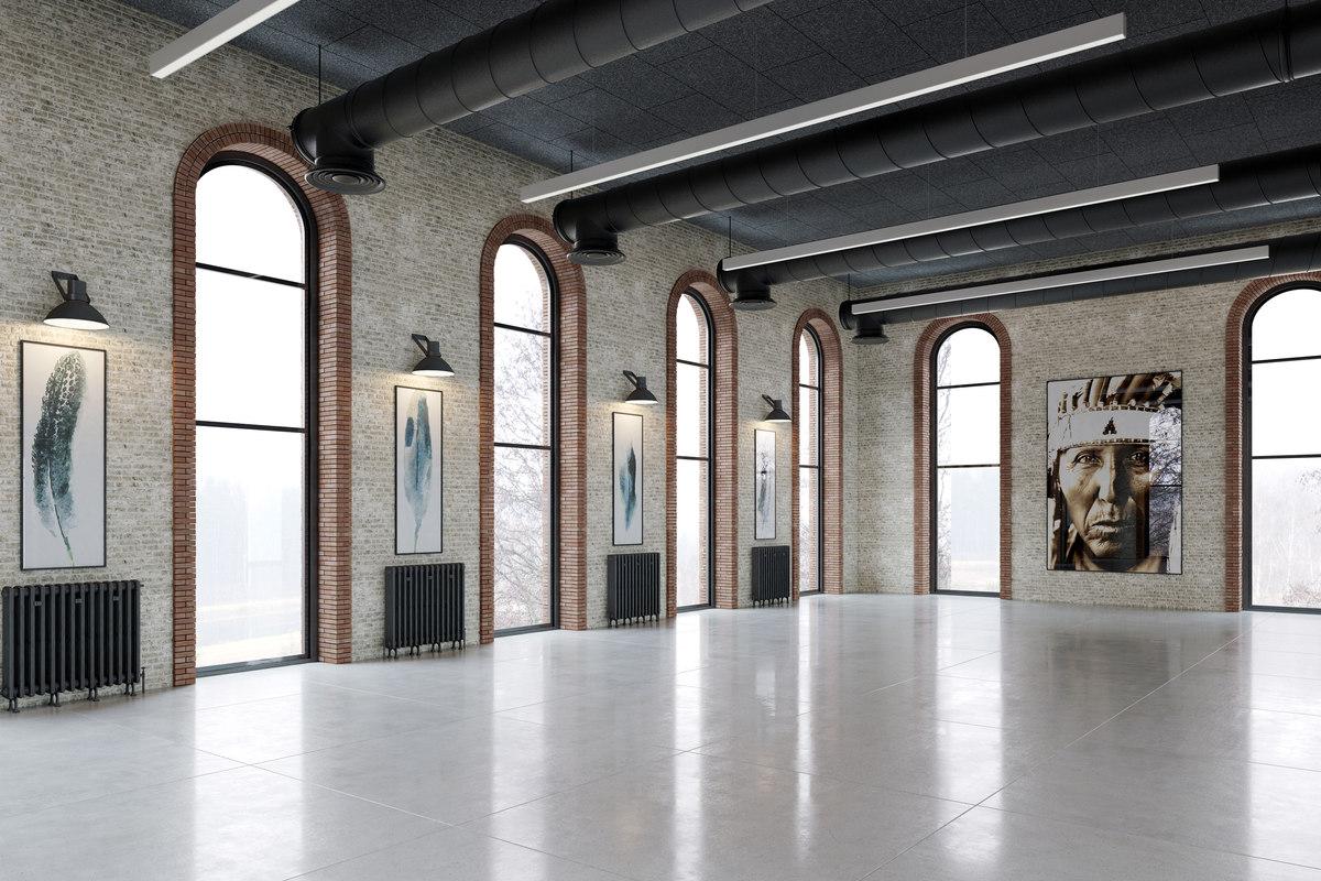BE3Dviz Vray Loft Warehouse Interior Scene