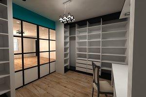 locker cabinet 3D model