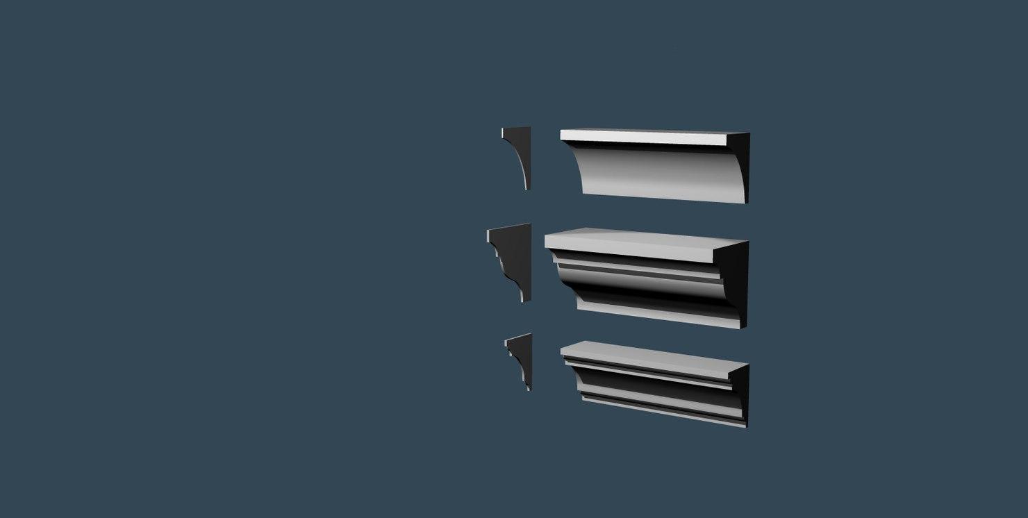 3d obj cornices interior exterior
