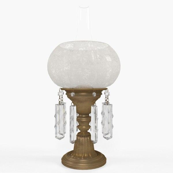 3D kerosene lamp light model
