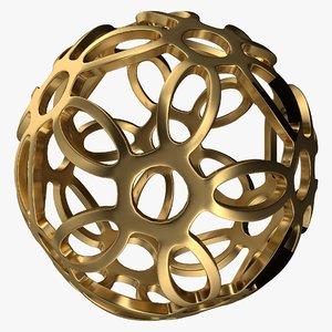ball flower 3D model
