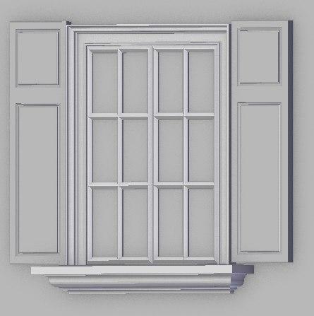 3D window interior exterior