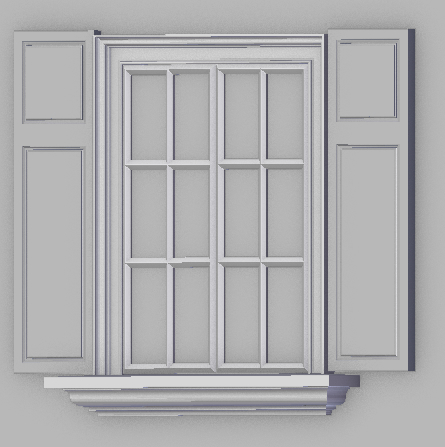 3D window interior exterior
