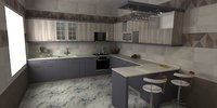 kitchen design 3D model