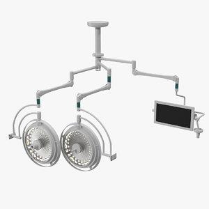 ceiling mount surgical lighting 3D model