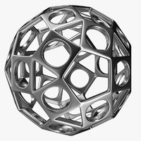 3D ball design silver model