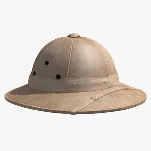 helmet tropical 3D model