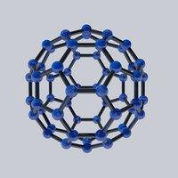buckyball atom chemistry 3D model