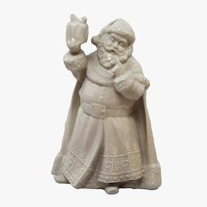 3D santa figurine