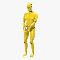 3D model crash test dummy rigged