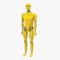 3D crash test dummy standing