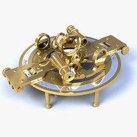 Sextant round navigation instrument