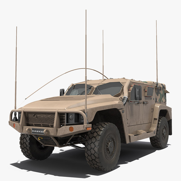 3D hawkei thales 4x4 vehicle