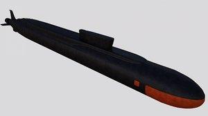 project 955 borei class 3D model
