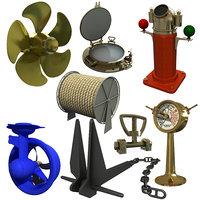 ship parts propeller 3D model