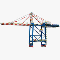 3D model sts harbor crane zpmc