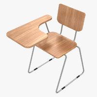 3D modern school desk