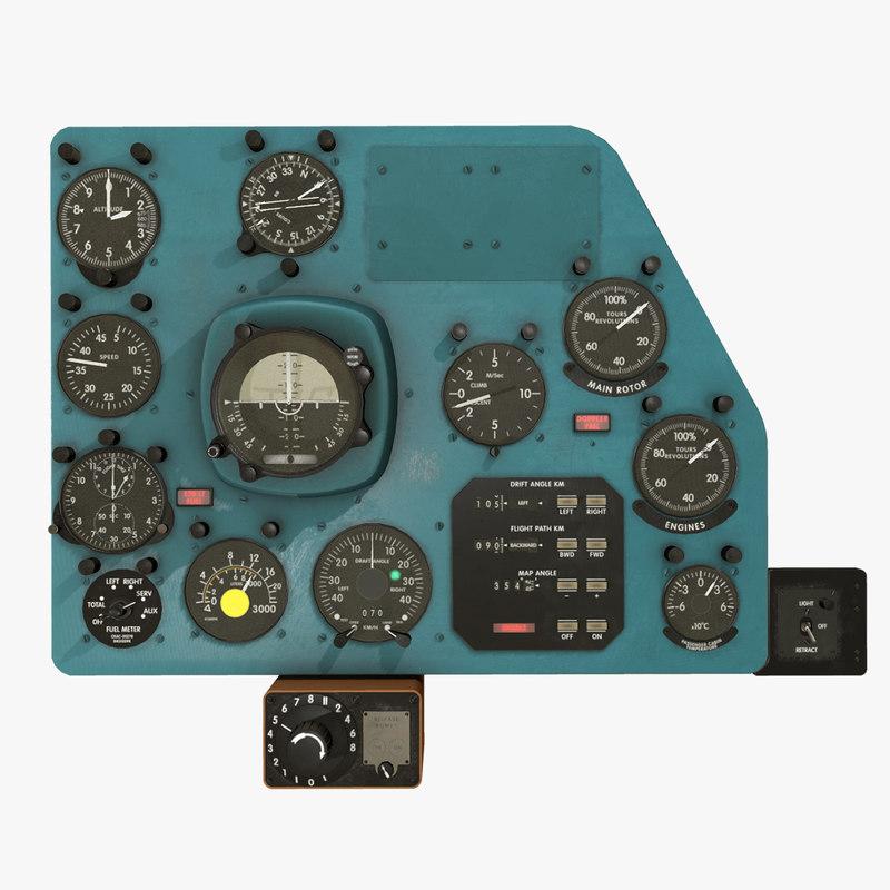 right panels board mi-8mt 3D