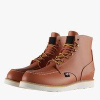 Men's 6 Inch Moc Toe Boots 2