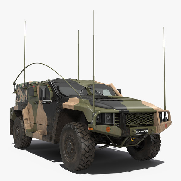 3D mobility protected vehicle hawkei model