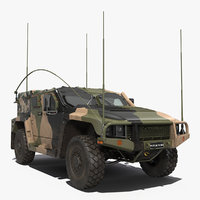 High Mobility Protected Vehicle Hawkei PMV 4x4 Camo 3D Model