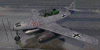 3D model messerschmitt me-262b-1a nachtjager