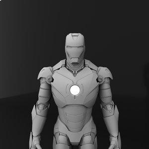 3D iron man suit
