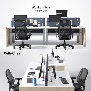 workstation renew link celle 3D model