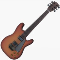 electric guitar 3D