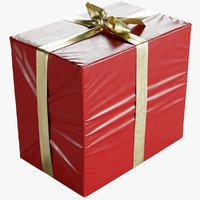 Wrapped Christmas Gift Box With Bow 210x320x275mm