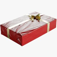 Wrapped Christmas Gift Box With Bow 295x480x100mm