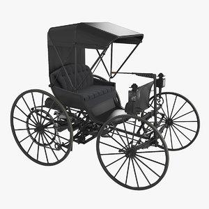 3D dureya retro automobile