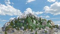 mountain landscape terrain 3D model