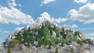 mountain landscape terrain 3D model